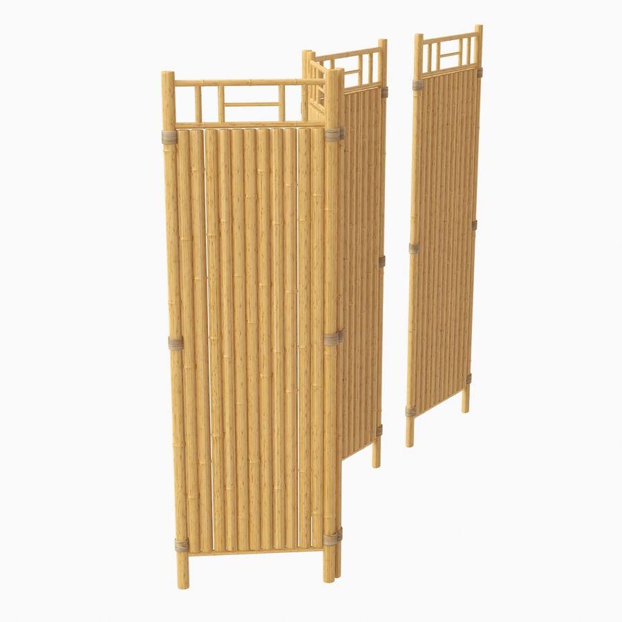cercas de bambu secional royalty-free 3d model - Preview no. 5