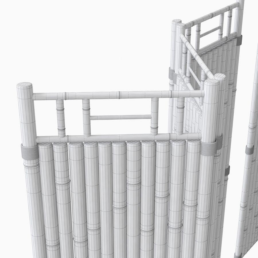 cercas de bambu secional royalty-free 3d model - Preview no. 11