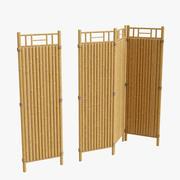 cercas de bambu secional 3d model
