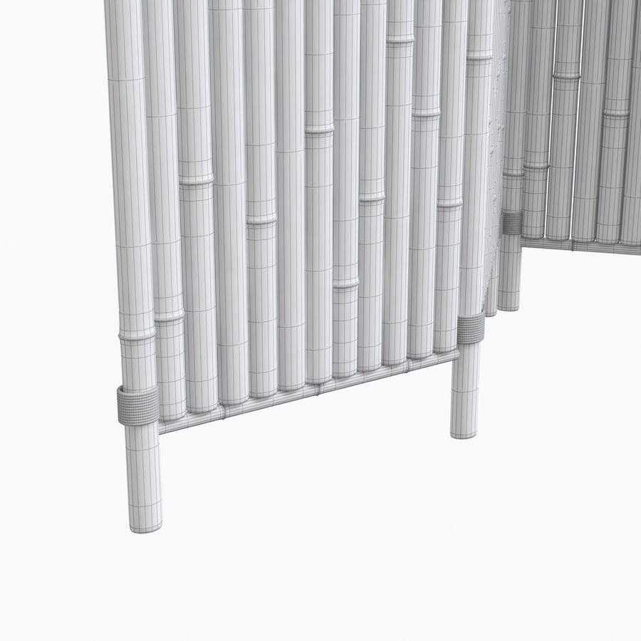 cercas de bambu secional royalty-free 3d model - Preview no. 15