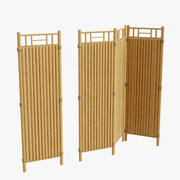 ogrodzenia bambusowe segmentowe 3d model