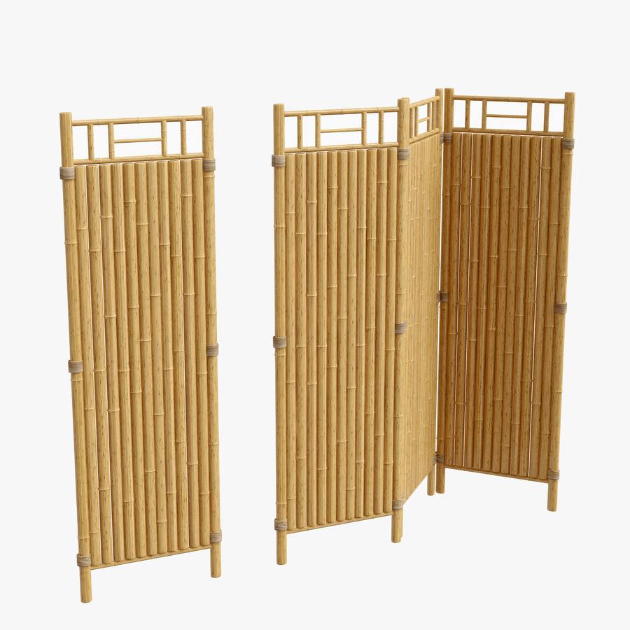 cercas de bambu secional royalty-free 3d model - Preview no. 1