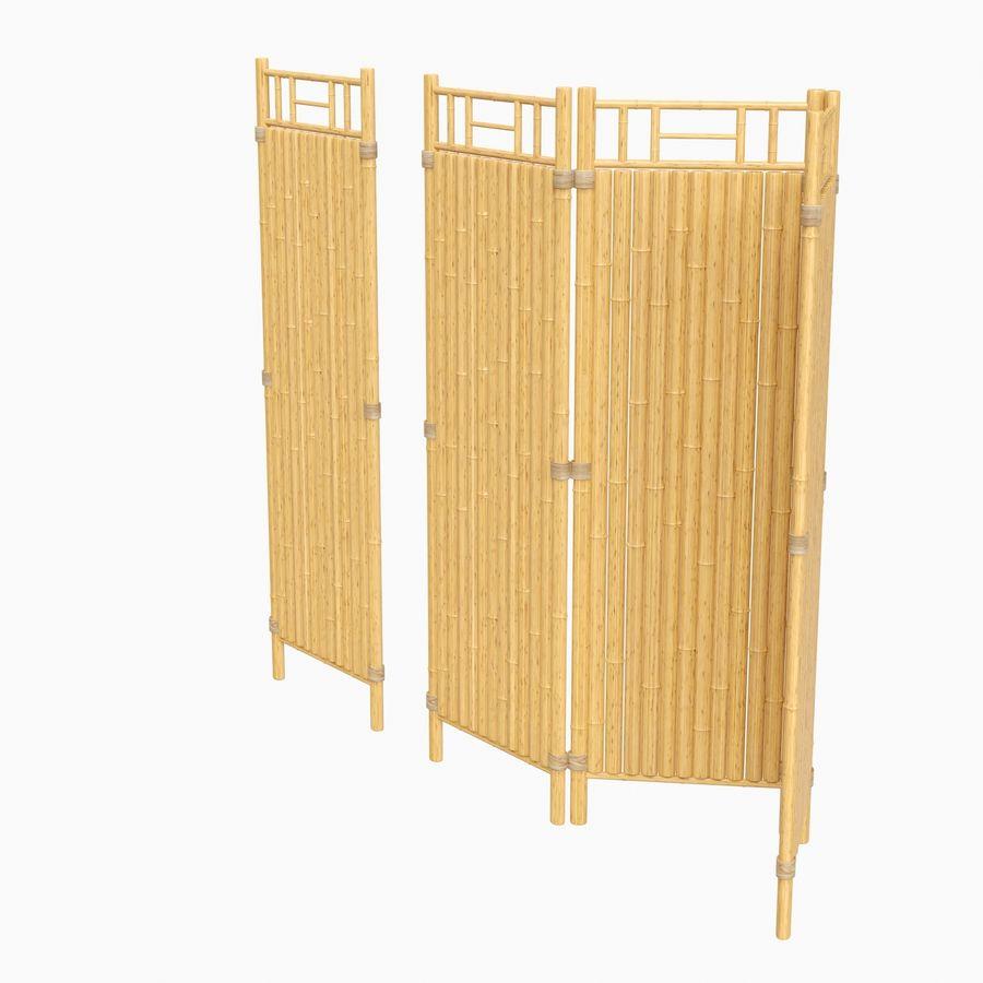 cercas de bambu secional royalty-free 3d model - Preview no. 6