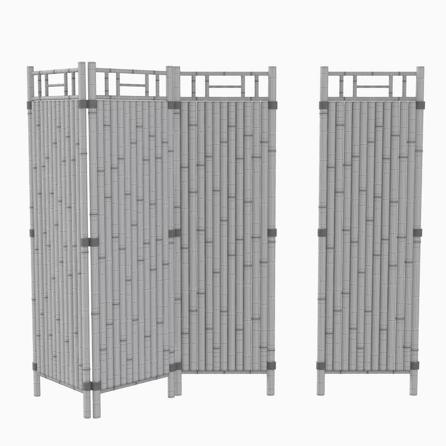 cercas de bambu secional royalty-free 3d model - Preview no. 17