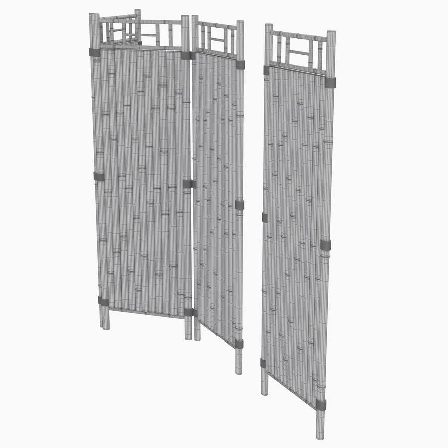 cercas de bambu secional royalty-free 3d model - Preview no. 16