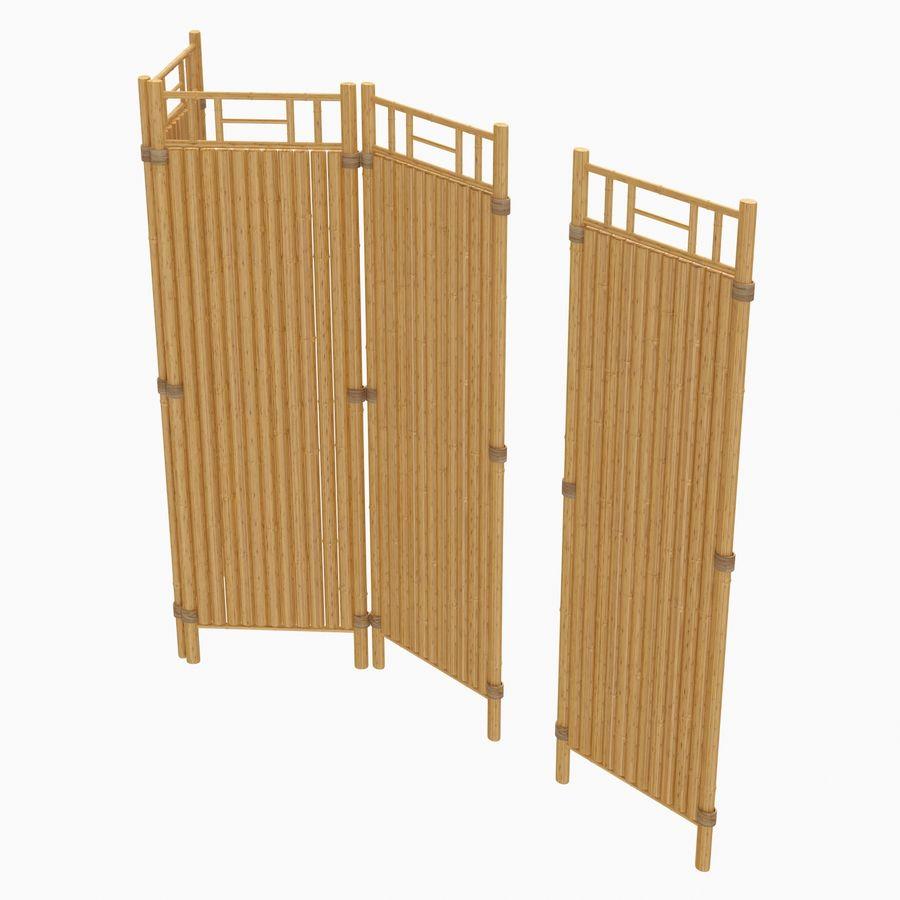 cercas de bambu secional royalty-free 3d model - Preview no. 4