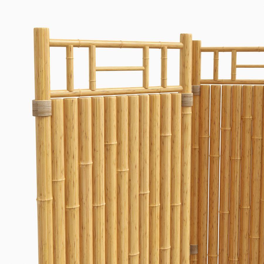 cercas de bambu secional royalty-free 3d model - Preview no. 8
