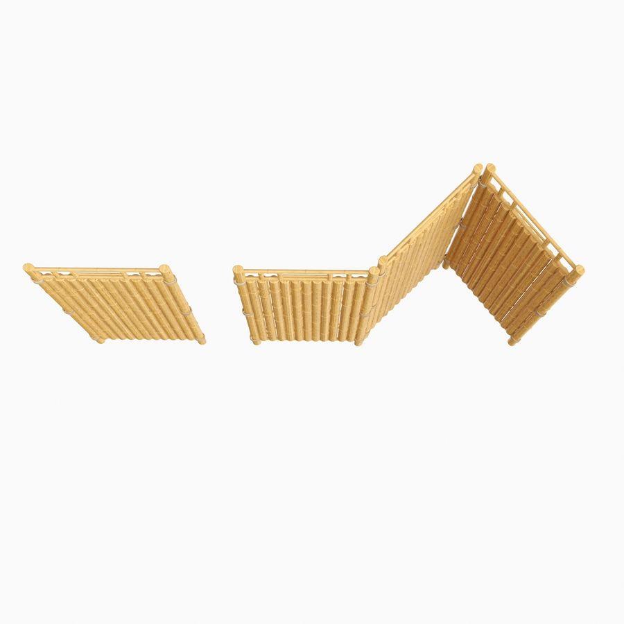 cercas de bambu secional royalty-free 3d model - Preview no. 7