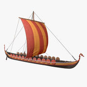Wikinger-Langschiff 3d model