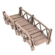 cartoon wood bridge 3d model