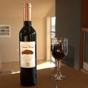 Weinflasche und Glas 3d model
