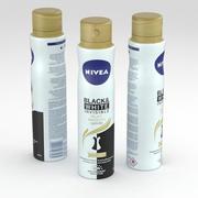 Nivea Anti-Perspirant Spray 250ml Black & White Invisible Silky Smooth 3d model