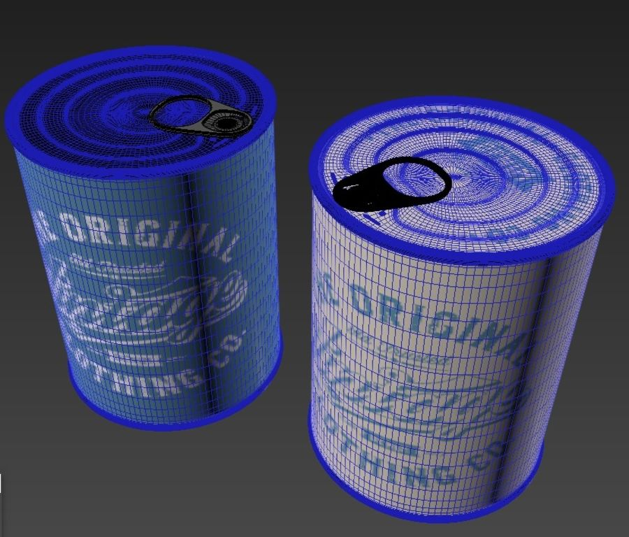 Food can royalty-free 3d model - Preview no. 6