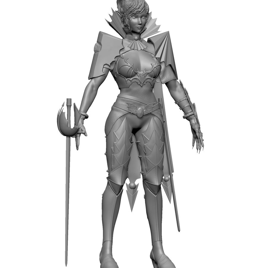 Женский убийца royalty-free 3d model - Preview no. 6