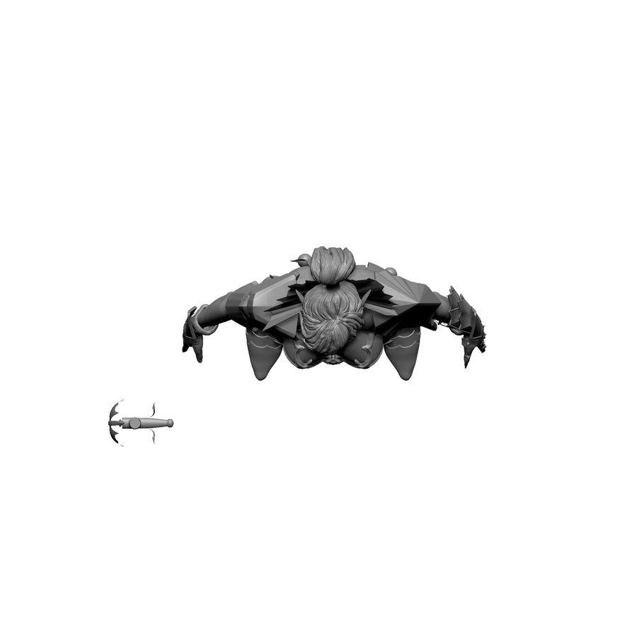 Женский убийца royalty-free 3d model - Preview no. 5