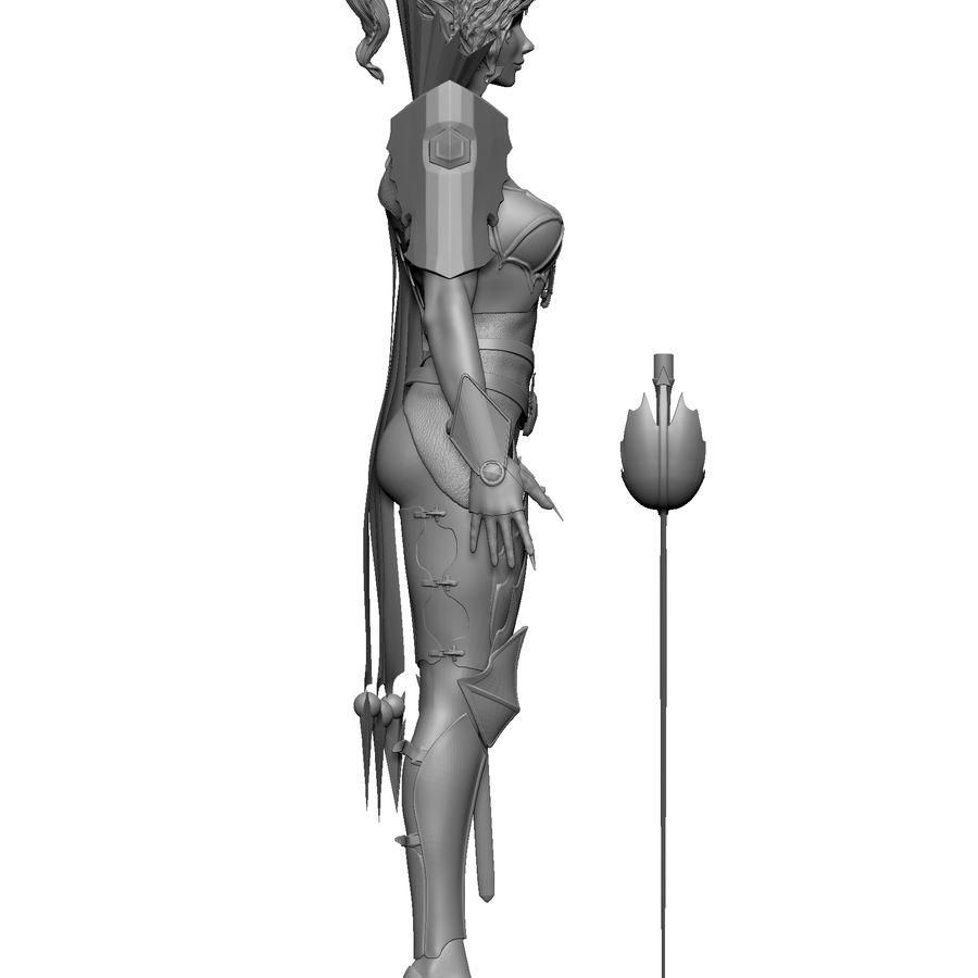 Женский убийца royalty-free 3d model - Preview no. 3