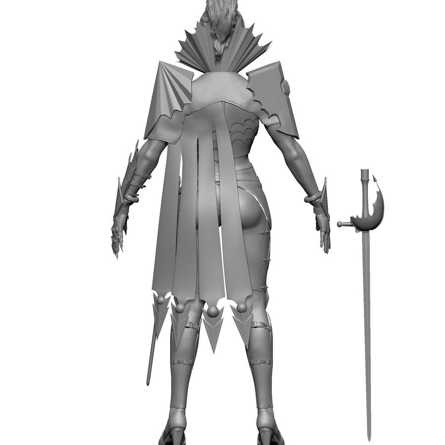Женский убийца royalty-free 3d model - Preview no. 2