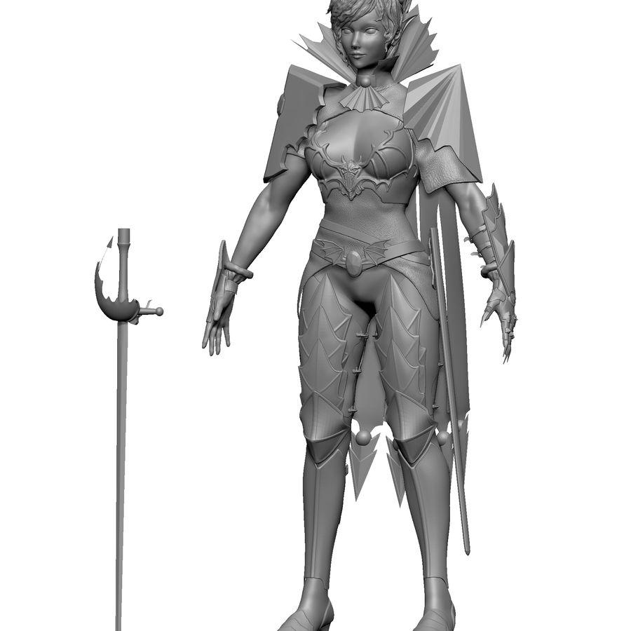 Женский убийца royalty-free 3d model - Preview no. 7