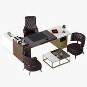 定制设计首席执行官老板办公家具布景设计 3d model