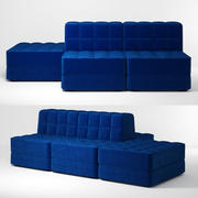 Sofa miękka 3d model