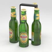 Botella de cerveza Meteor Blonde 330ml modelo 3d