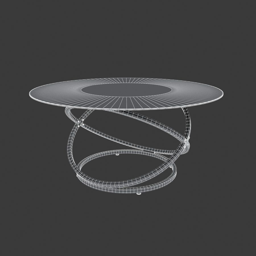 Cocktail tafel royalty-free 3d model - Preview no. 2