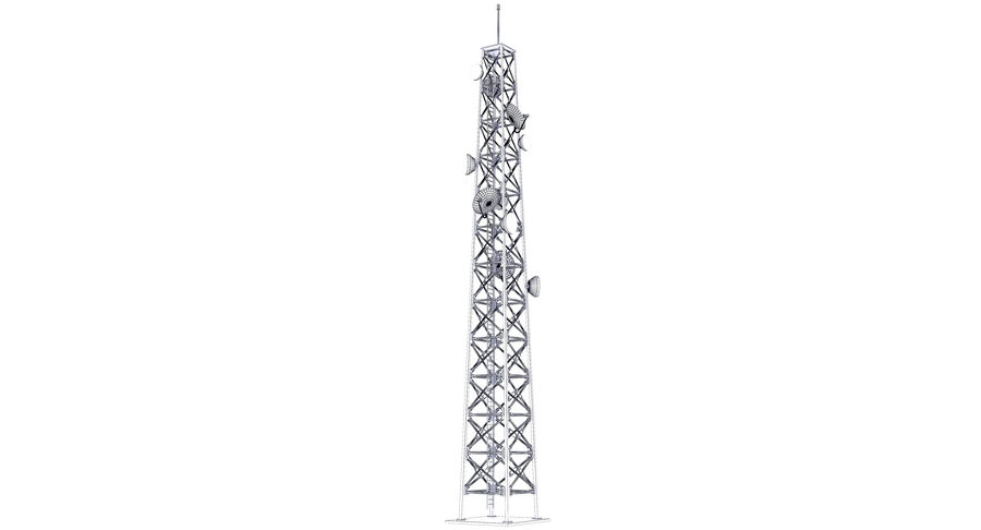 Cellular Tower royalty-free 3d model - Preview no. 10
