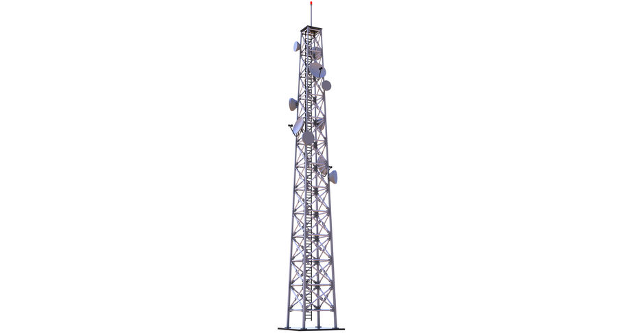 Cellular Tower royalty-free 3d model - Preview no. 3