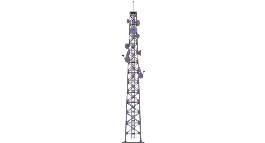 Cellular Tower royalty-free 3d model - Preview no. 5