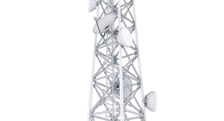 Cellular Tower royalty-free 3d model - Preview no. 12