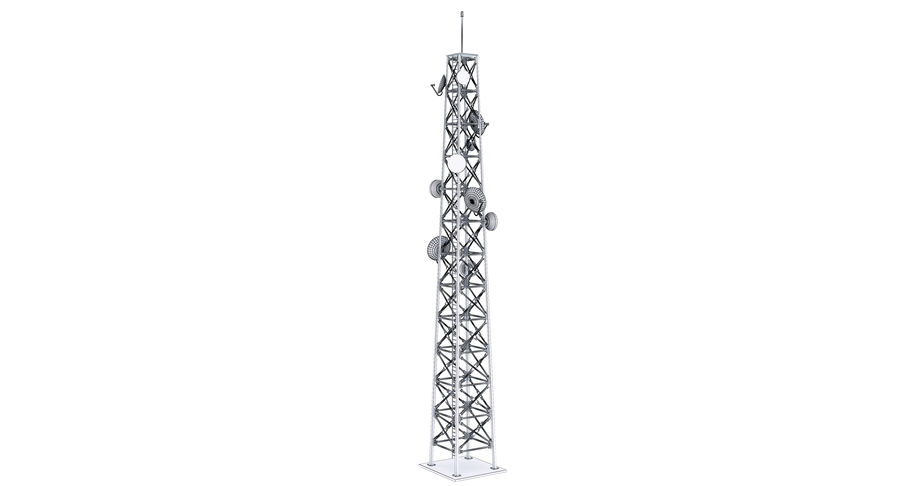 Cellular Tower royalty-free 3d model - Preview no. 13