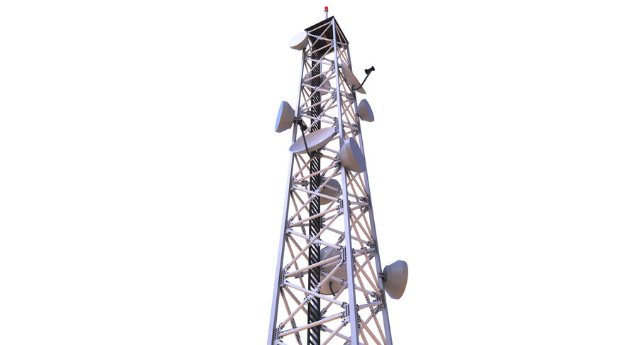 Cellular Tower royalty-free 3d model - Preview no. 2