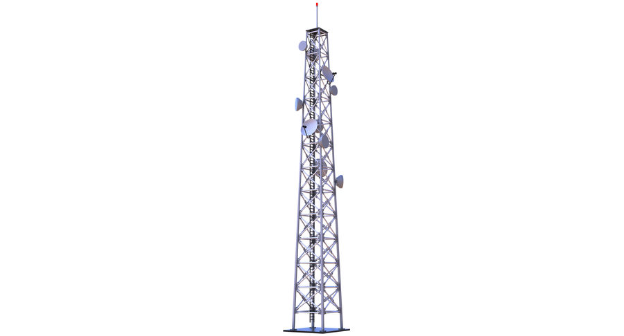 Cellular Tower royalty-free 3d model - Preview no. 9