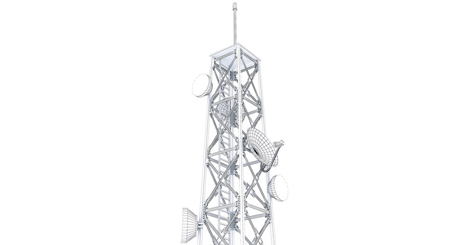 Cellular Tower royalty-free 3d model - Preview no. 11