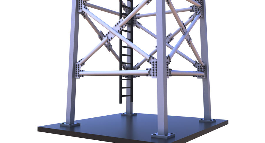 Cellular Tower royalty-free 3d model - Preview no. 8