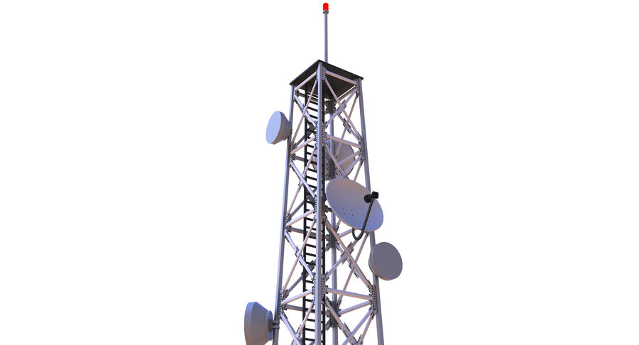 Cellular Tower royalty-free 3d model - Preview no. 6