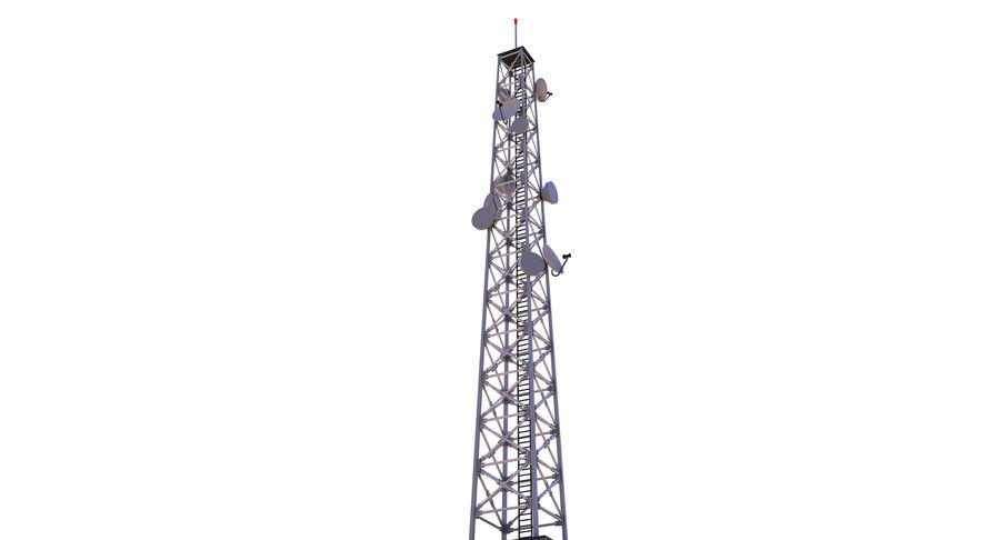 Cellular Tower royalty-free 3d model - Preview no. 4