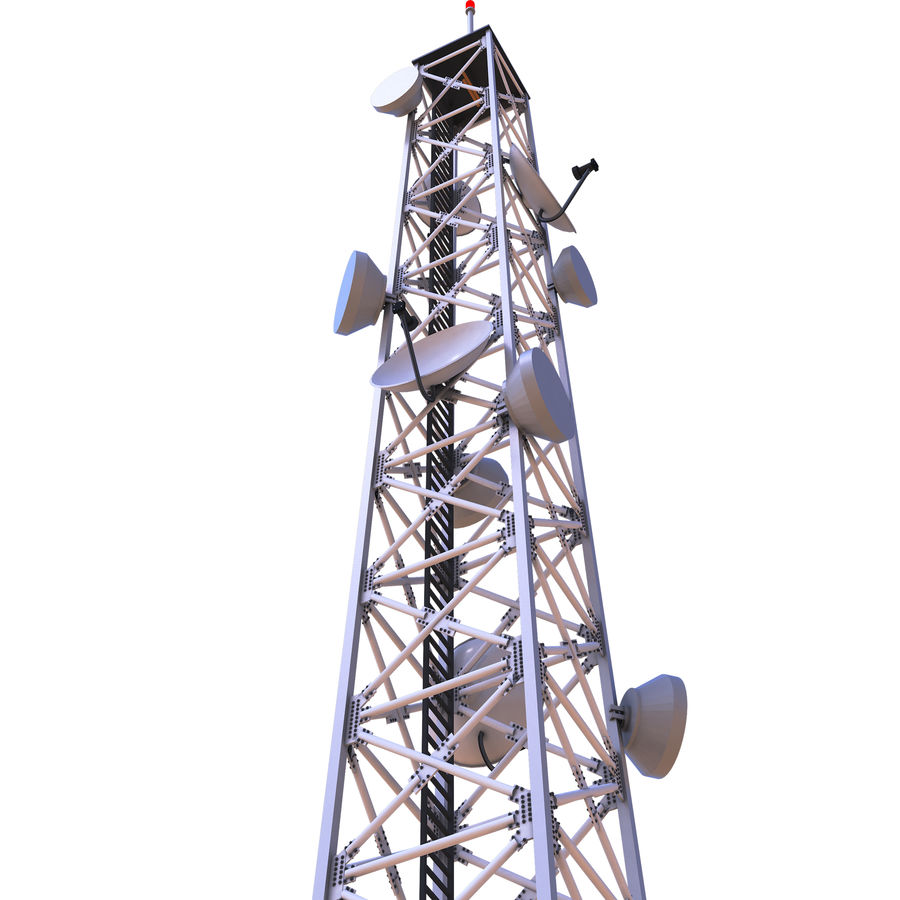 Cellular Tower royalty-free 3d model - Preview no. 1