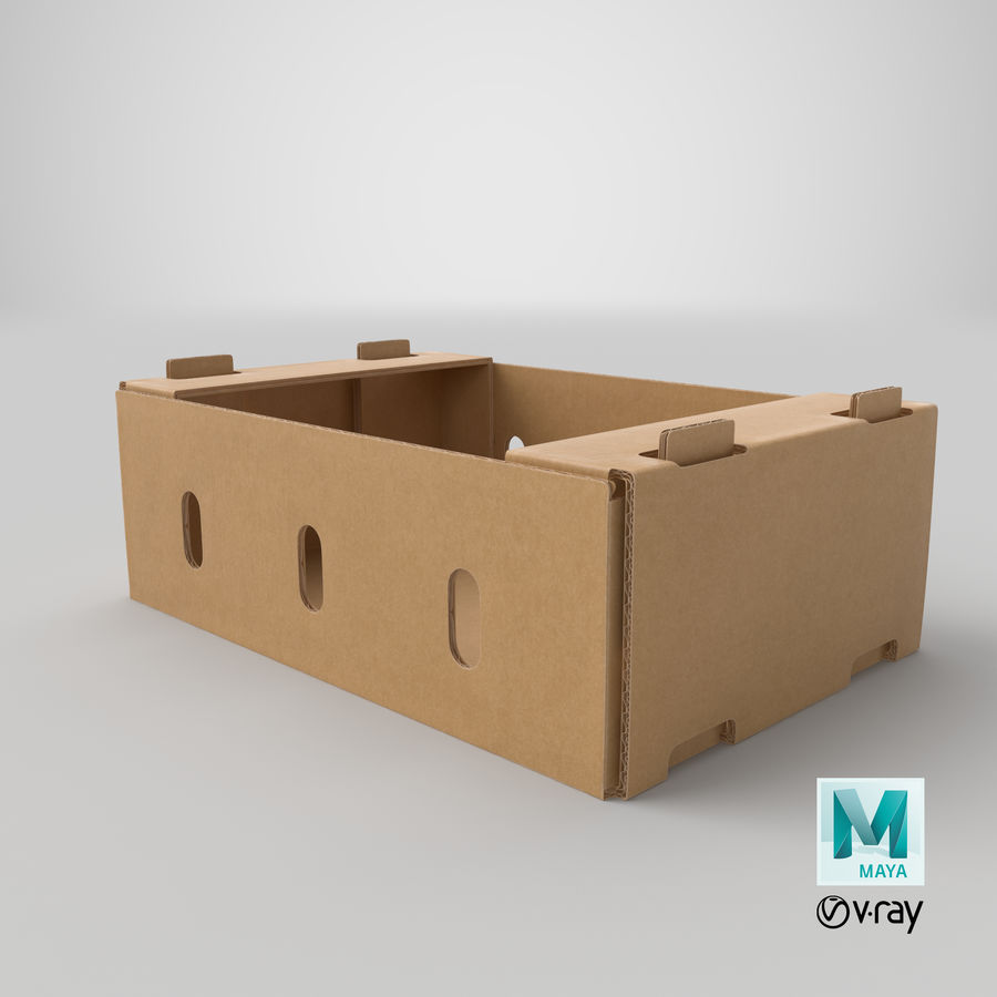 Carton présentoir 01 royalty-free 3d model - Preview no. 20