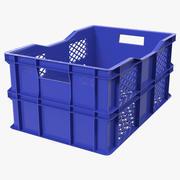 Caixa plástica quadrada vegetal 3d model