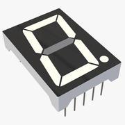 Segment-siffran LCD-nummervisning 3d model