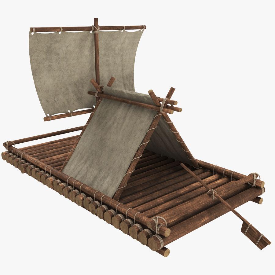 Wooden Raft 3D Model $29 - .c4d .max .ma .obj .fbx - Free3D
