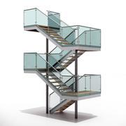 现代楼梯9 3d model