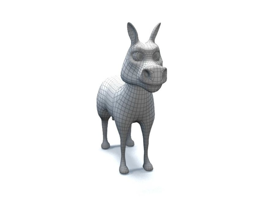 cartoon zebra royalty-free 3d model - Preview no. 11