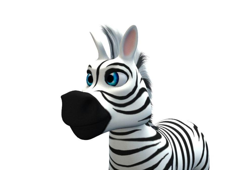 cartoon zebra royalty-free 3d model - Preview no. 5