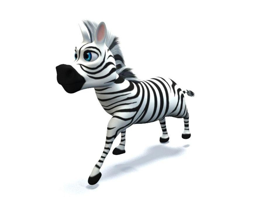 cartoon zebra royalty-free 3d model - Preview no. 6