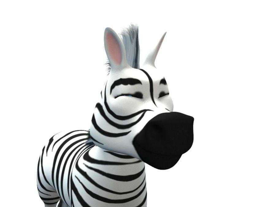 cartoon zebra royalty-free 3d model - Preview no. 7