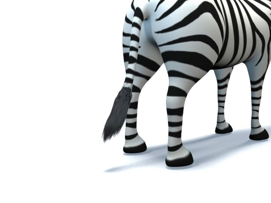 cartoon zebra royalty-free 3d model - Preview no. 9