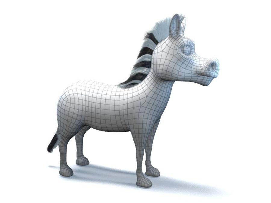 cartoon zebra royalty-free 3d model - Preview no. 10