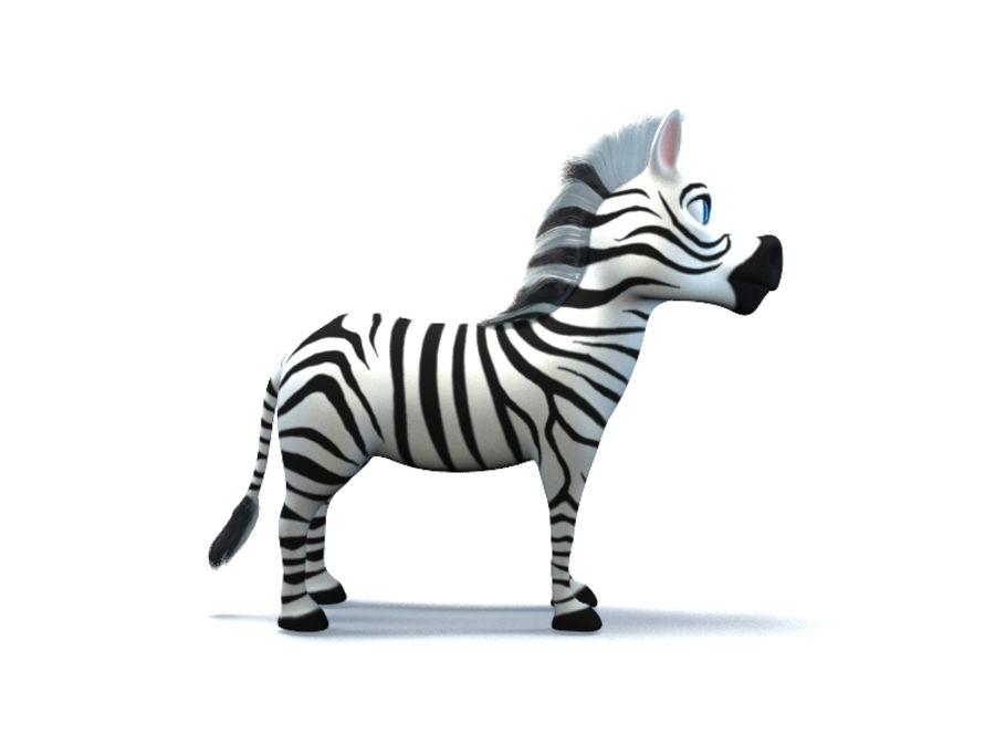 cartoon zebra royalty-free 3d model - Preview no. 8